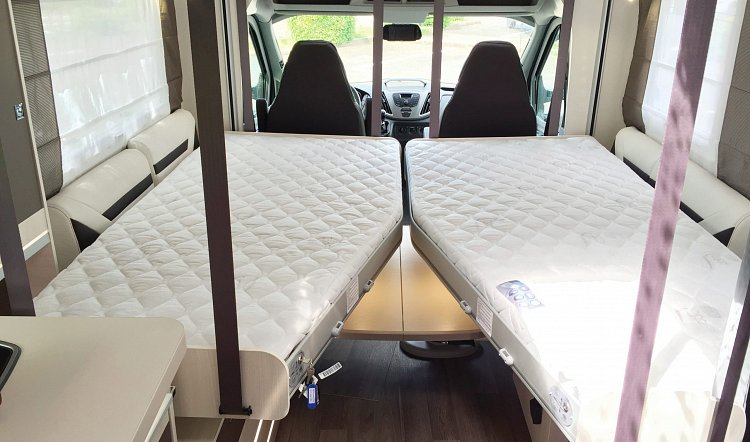 Chausson 630 dropdown hideaway Beds 4 berth