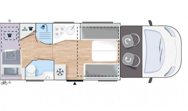 Chausson 720 Floorplan - 5 Berth - 7.19 Metres