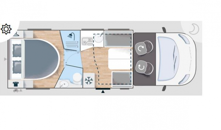 Chausson 788 - Floorplan - 4 Berth